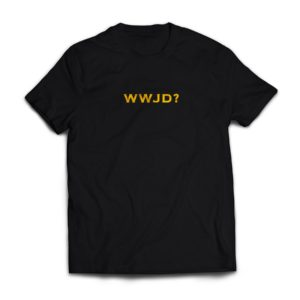 WWJD? Tee (Black) (Embroidered)